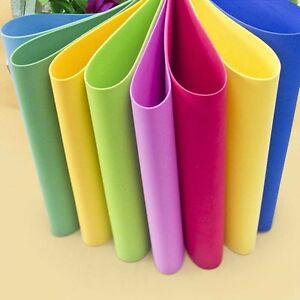 Details about 10 Sheets/bag Thick Multicolor A4 Sponge EVA Foam Paper Kids  Handmade Hand Craft