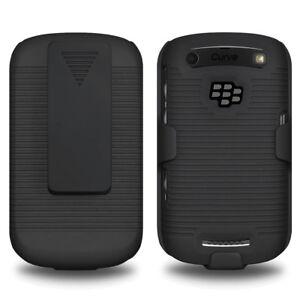 AMZER-Shell-Case-Holster-Belt-Clip-Black-For-BlackBerry-Curve-9370-9360-9350