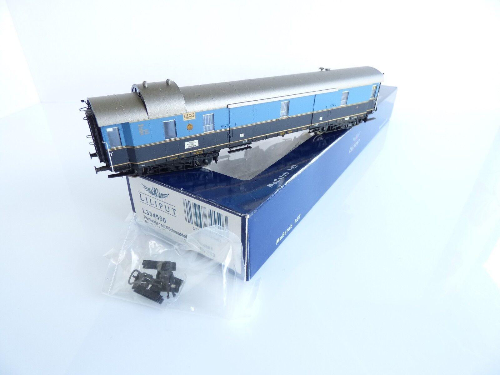 Liliput l334550 baggage car has the DRG pw4ük no 105 270 karwendel express