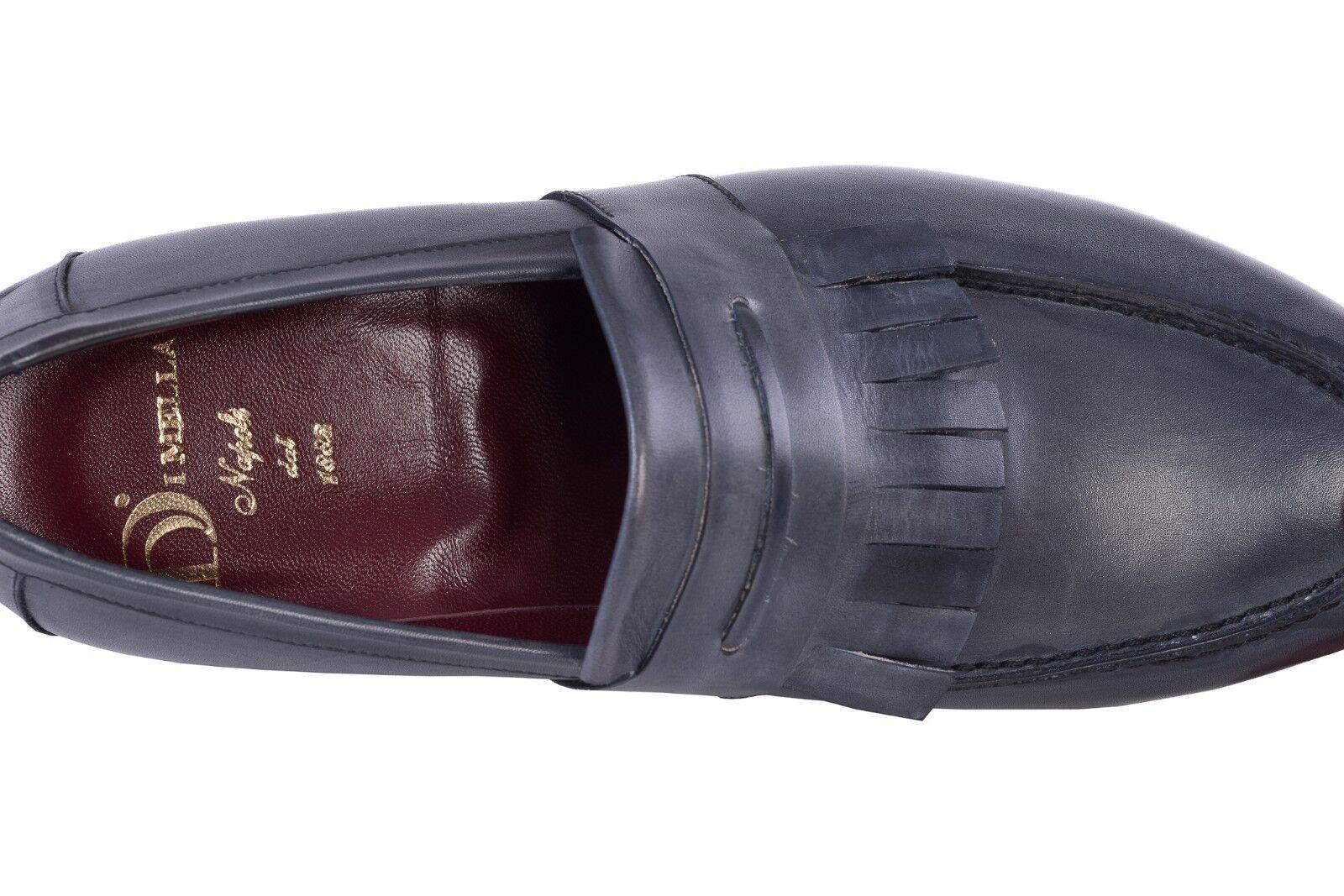 450  DI MELLA NAPOLI Tassel Tassel Tassel Loafer schuhe Antiqued Blau 8.5 US   7.5 UK   41.5 IT c04ed5