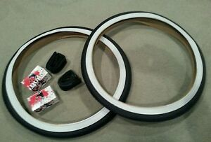 TWO 2 DURO 26X2.125  BEACH CRUISER BICYCLE TIRES BRICK PATTERN /& 2 TUBES