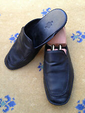 Hermes Men's Shoes Black leather 'Journey' Slipper UK 7 US 8 EU 41