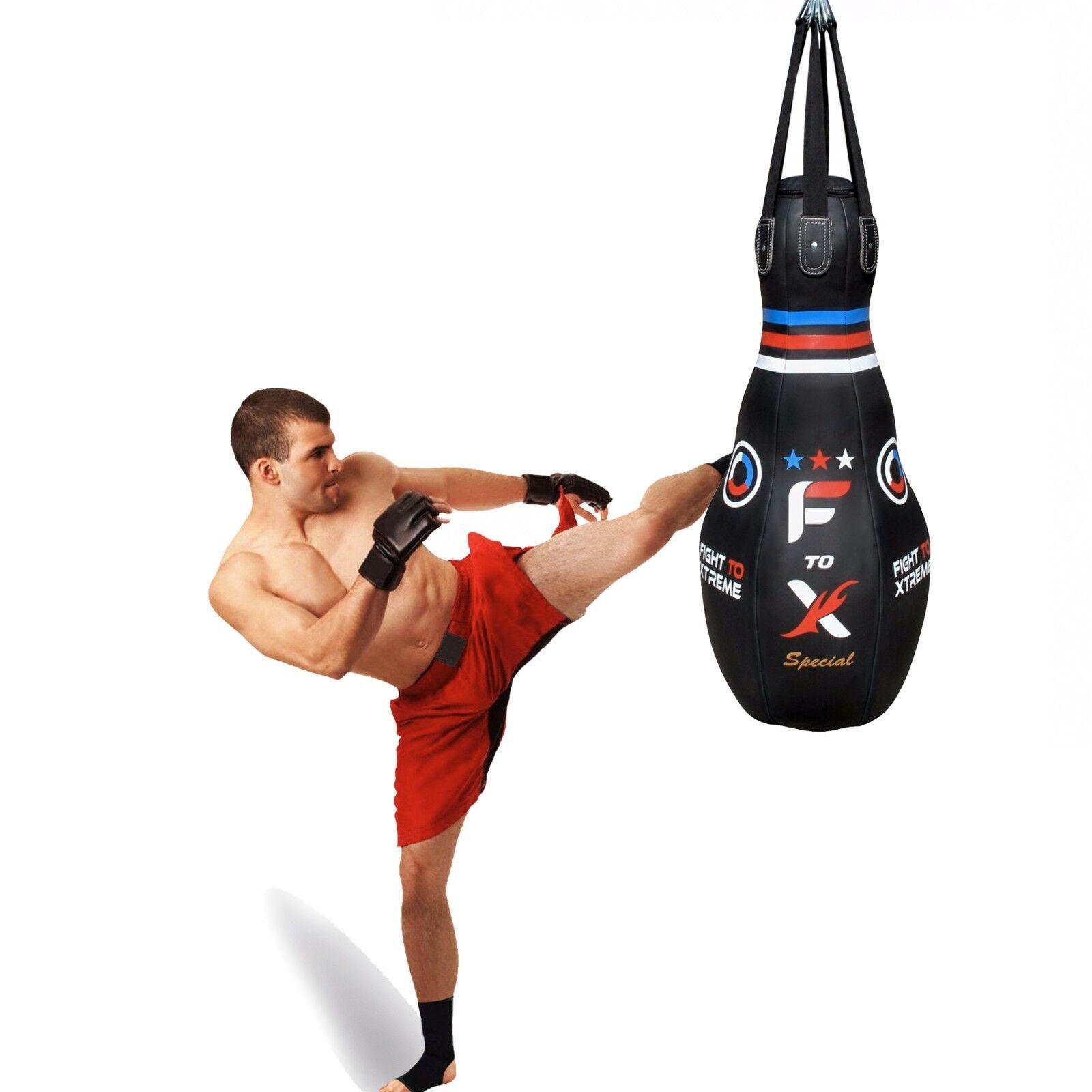 4ft Boxsack Tropf Bowling Kickboxen Schwer Gefüllte Mma Muay Thai Training
