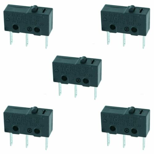 5 x Bouton Poussoir V4 Miniature Microswitch inverseurs 5 A micro switch