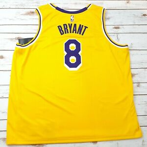 Details about Kobe Bryant Lakers Icon Edition 3XL Nike NBA Swingman Jersey Gold Purple NWT