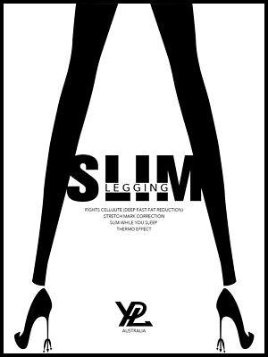 YPL Slim Legging Yoga Pants 360 Degree Free Size Black 3rd Generation