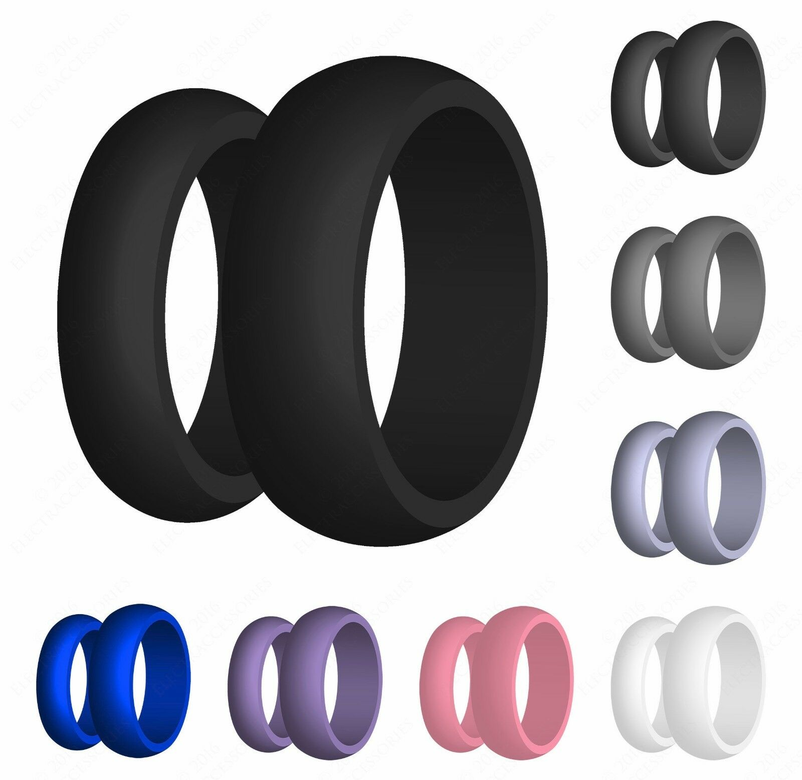New Silicone Wedding Ring Thin Red Line Wedding