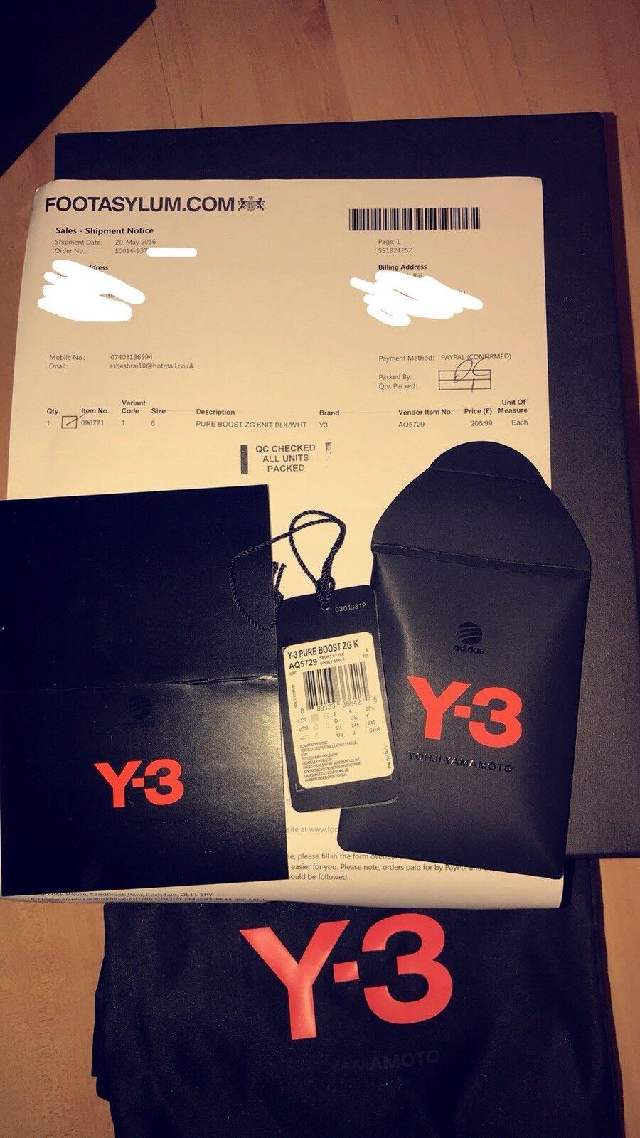 Adidas Y3 / Pure Boost ZG Knit Black / White / Y3 Oreo 5a8ffa
