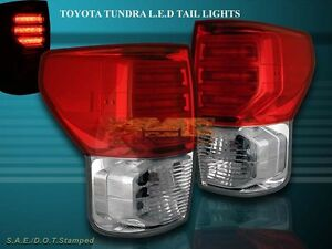 2007-2012-TOYOTA-TUNDRA-LED-TAIL-LIGHTS-RED-CLEAR-G2-VERSION