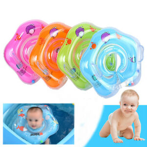 Newborn Infant Baby Swimming Neck Float Ring Bath Inflatable Circle Toy Gift PVC