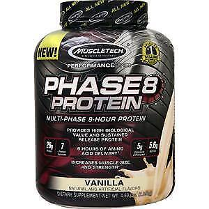 60fcde69d Muscletech Phase 8 - Multi Phase 8 Hour Protein Vanilla 4.6 lbs ...