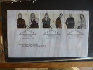 2005-AUSTRALIAN-LEGENDS-FASHION-DESIGNERS-SET-6-STAMPS-FDC-FIRST-DAY-COVER