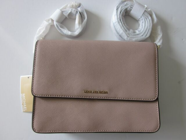 abcc86cfde76e2 Michael Kors Daniela Large Crossbody Bag in Fawn Saffiano Leather 32t6gddc3l