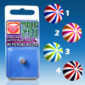 Zungenpiercing Fake Wasserball Schock Piercing ohne Loch