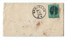 U.S. Scott #147 cover Washington green 3 cent stamp, Brooklyn to Sheboygan, Wisc