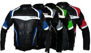 Alerte Blouson Veste Racing De Pour Moto En Cuir Avec Protections