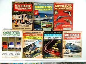 Lot of 7 Mechanix Illustrated Magazines 1959 - 1968