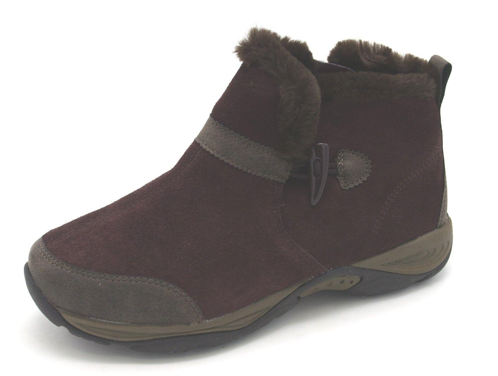 J6981 New Women's Easy Spirit Eppie Dark Purple Suede Ankle Boot 6 W