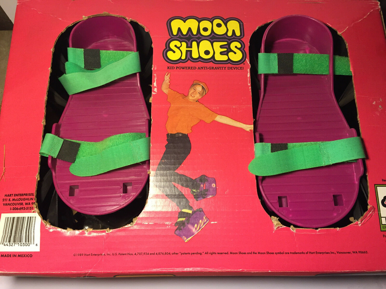 Moon shoes Anti-Gravity Vintage Trampoline Trampoline Trampoline Purple Extra Bands New in box 03e32d