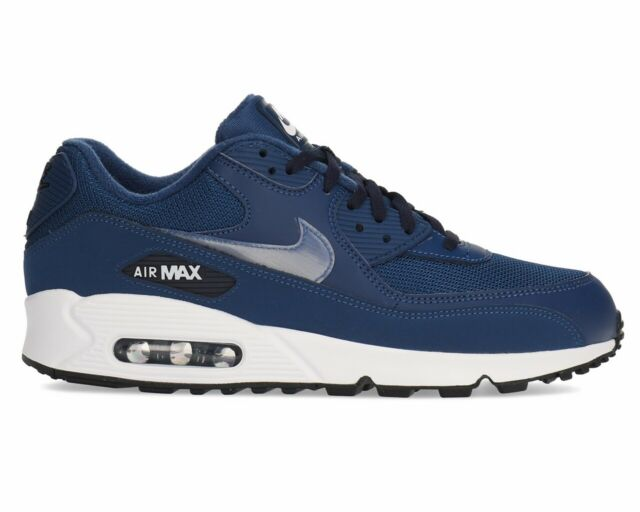 release date: crazy price where to buy Nike Air Max 90 Essential AJ1285 406 Mens Trainers Blue Gym Running Shoes