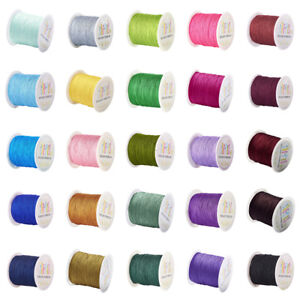 145yds-Roll-27-Color-Nylon-Threads-Tiny-Normal-Beading-Cords-Round-Spool-0-5mm