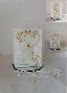 Hochzeitskerze,Traukerze,Jubiläumskerze(25,50,) Hochzeit 3D Orchideen !♥