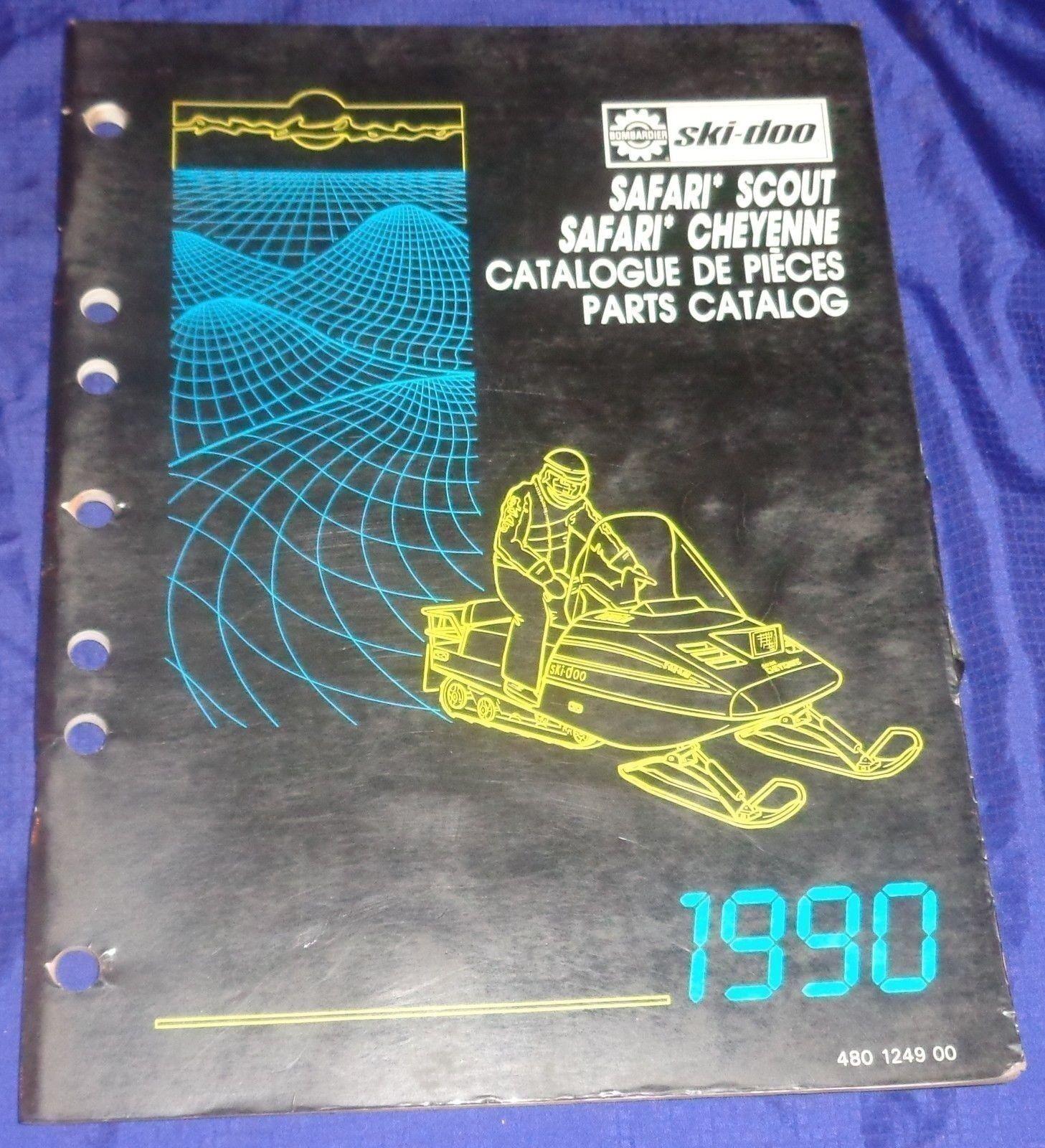 BS686 1990 Ski-Doo Safari Scout Cheyenne Parts Catalog 480 1249 00 Manual