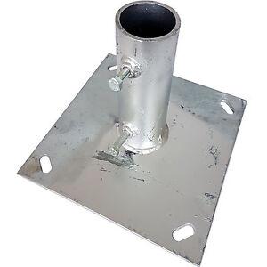 1 5 2 pole mast ground base plate galvanised stand mount aerial satellite dish 5055538187445. Black Bedroom Furniture Sets. Home Design Ideas