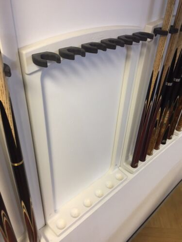 SAM Professional Wall Cue Rack Securely Holds Up to 6 Cues