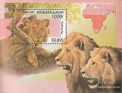Hearty Benin Block52 Mint Never Hinged Mnh 1999 Big Cats Stamps