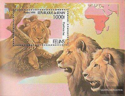 Africa Hearty Benin Block52 Mint Never Hinged Mnh 1999 Big Cats Benin