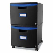 Storex 2 Drawer Mobile Filing Cabinet Blackblue Stx61314u01c