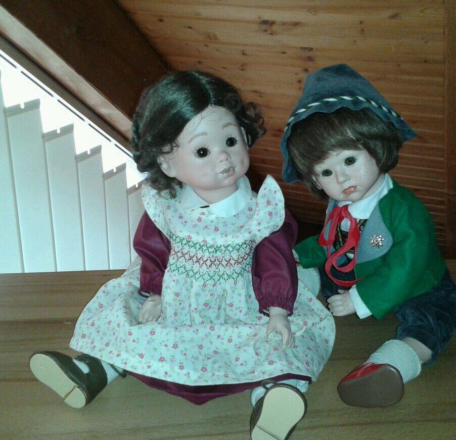 2 makellose Künstler-Puppen Größe 45 cm © Elke Hutchens