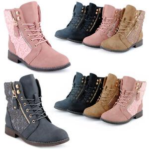 FiveSix-Damen-Schnuer-Stiefeletten-Boots-Stiefel-Spitze-Neu-1584-Schuhe-Gr-36-41