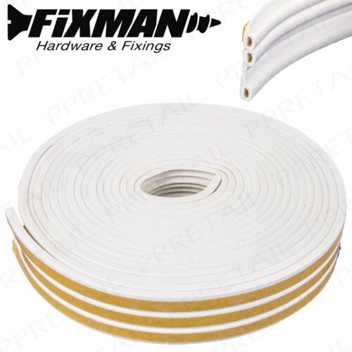 15M WHITE WEATHER STRIP Stormguard P Profile Window//Door Draught Excluder Seal
