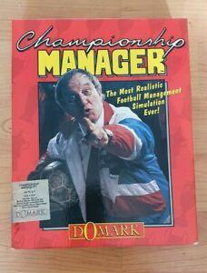 "Seltene Championship Manager PC. Original Big Box 3.5"" Disk. cm 93 Disk 1 Domark"