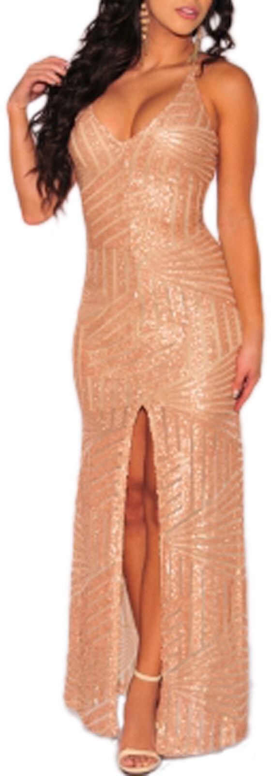 Kleid élégant lang zurück entdeckung kleid pailletten zeremonie