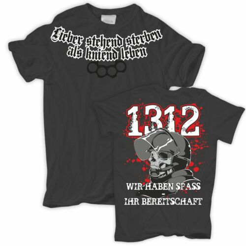 T-shirt mieux mourir debout que Genoux vie mal poing américain sort Skull