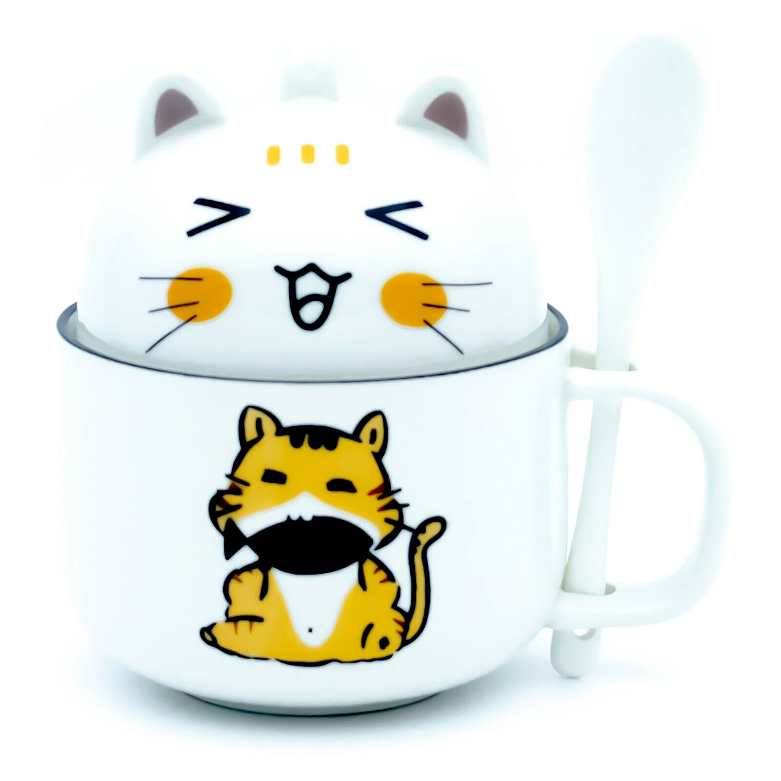 Coffee Mug Lovely Cute 3d Bird Mugs Creative Ceramic Tea Cup With Lid Spoon For Sale Online Ebay