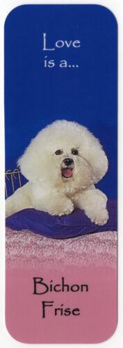 BICHON FRISE DOG BEAUTIFUL DOG BOOKMARK SAME IMAGE BOTH SIDES GREAT GIFT
