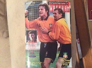 Wrexham-v-Bristol-Rovers-1995-96-Programme