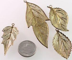 10pcs 48x26mm antiqued bronze  leaf charm pendants  G2