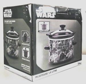 DISNEY-Star-Wars-Lucas-Film-Slow-Cooker-2-Qt-Crock-Pot-Brand-New-LSW-200CN