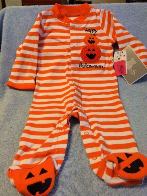 9619d8edf W Koala Kids Happy Halloween Footed Sleeper 3 Mos for sale online