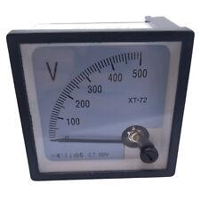 Us Stock Ac 0500v Square Analog Volt Pointer Needle Panel Meter Voltmeter Xt 72