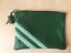 Pochette-cuir-vert-sapin-avec-ruban-fantaisie miniature 3