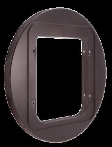 SureFlap-Cat-Flap-Mounting-Adaptor-BROWN-Suitable-For-Glass-Doors-Walls-etc