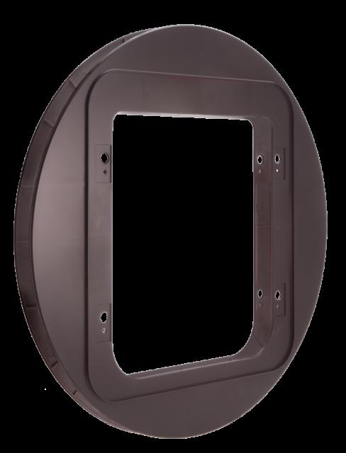 SureFlap Cat Flap Mounting Adaptor BROWN - Suitable For Glass Doors, Walls etc.