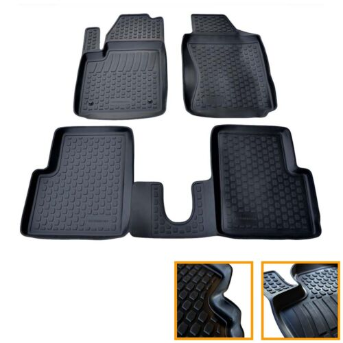 4 TAPIS CAOUTCHOUC FIAT 500 500CC 2007-2013 1.2 LPG 1.4 ABARTH SOL 3D TPE