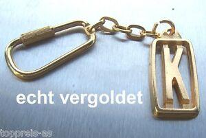 Edler SchlÜsselanhÄnger Buchstabe K Echt Vergoldet Keychain Weihnachtsgeschenk Profitieren Sie Klein Büro & Schreibwaren